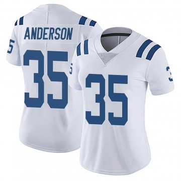 Women's Nike Indianapolis Colts Bruce Anderson White Vapor Untouchable Jersey - Limited