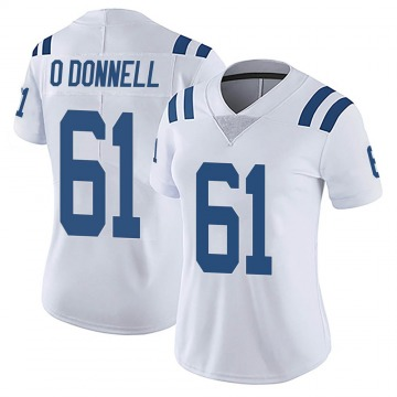 Women's Nike Indianapolis Colts Carter O'Donnell White Vapor Untouchable Jersey - Limited