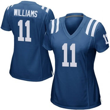 Women's Nike Indianapolis Colts Chad Williams Royal Blue Team Color Jersey - Game