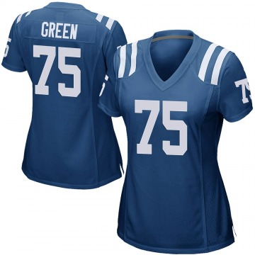Women's Nike Indianapolis Colts Chaz Green Royal Blue Team Color Jersey - Game
