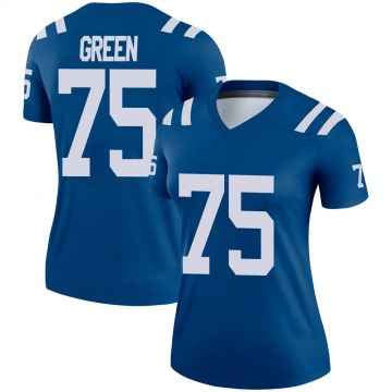Women's Nike Indianapolis Colts Chaz Green Royal Jersey - Legend