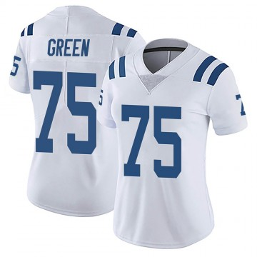Women's Nike Indianapolis Colts Chaz Green White Vapor Untouchable Jersey - Limited