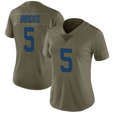 Women's Nike Indianapolis Colts Chris Briggs Green 2017 Salute to Service Jersey - Limited
