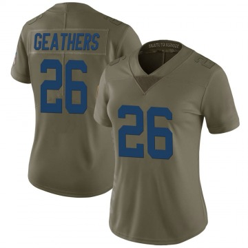Women's Nike Indianapolis Colts Clayton Geathers Green 2017 Salute to Service Jersey - Limited