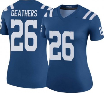 Women's Nike Indianapolis Colts Clayton Geathers Royal Color Rush Jersey - Legend