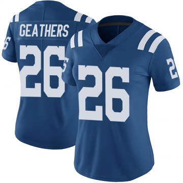 Women's Nike Indianapolis Colts Clayton Geathers Royal Color Rush Vapor Untouchable Jersey - Limited