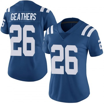 Women's Nike Indianapolis Colts Clayton Geathers Royal Team Color Vapor Untouchable Jersey - Limited