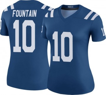 Women's Nike Indianapolis Colts Daurice Fountain Royal Color Rush Jersey - Legend