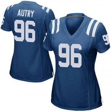 Women's Nike Indianapolis Colts Denico Autry Royal Blue Team Color Jersey - Game