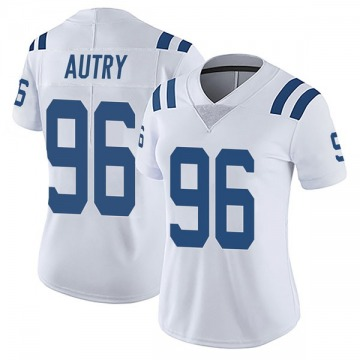 Women's Nike Indianapolis Colts Denico Autry White Vapor Untouchable Jersey - Limited