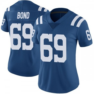Women's Nike Indianapolis Colts Deyshawn Bond Royal Color Rush Vapor Untouchable Jersey - Limited