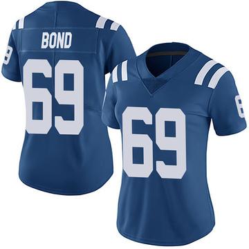 Women's Nike Indianapolis Colts Deyshawn Bond Royal Team Color Vapor Untouchable Jersey - Limited