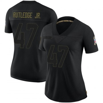 Women's Nike Indianapolis Colts Donald Rutledge Jr. Black 2020 Salute To Service Jersey - Limited