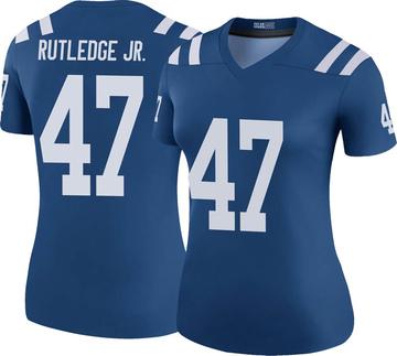 Women's Nike Indianapolis Colts Donald Rutledge Jr. Royal Color Rush Jersey - Legend