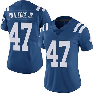 Women's Nike Indianapolis Colts Donald Rutledge Jr. Royal Team Color Vapor Untouchable Jersey - Limited