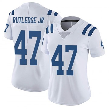 Women's Nike Indianapolis Colts Donald Rutledge Jr. White Vapor Untouchable Jersey - Limited