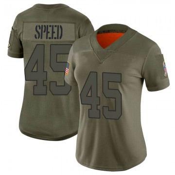 Women's Nike Indianapolis Colts E.J. Speed Camo 2019 Salute to Service Jersey - Limited