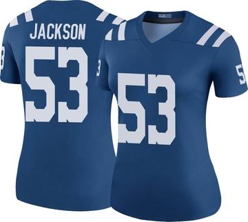 Women's Nike Indianapolis Colts Edwin Jackson Royal Color Rush Jersey - Legend