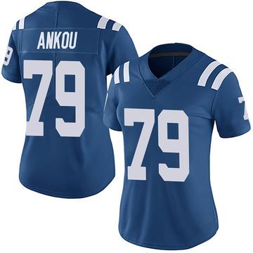 Women's Nike Indianapolis Colts Eli Ankou Royal Team Color Vapor Untouchable Jersey - Limited
