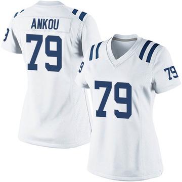 Women's Nike Indianapolis Colts Eli Ankou White Jersey - Game