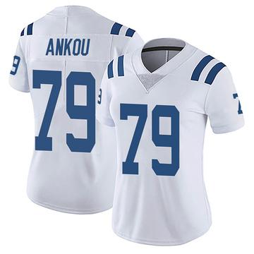 Women's Nike Indianapolis Colts Eli Ankou White Vapor Untouchable Jersey - Limited