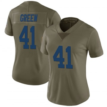 Women's Nike Indianapolis Colts Farrod Green Green 2017 Salute to Service Jersey - Limited