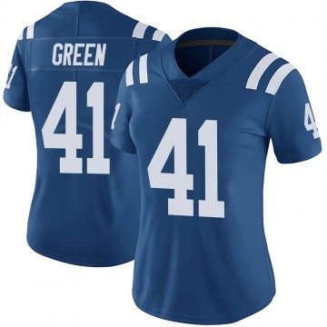 Women's Nike Indianapolis Colts Farrod Green Green Color Rush Royal Vapor Untouchable Jersey - Limited