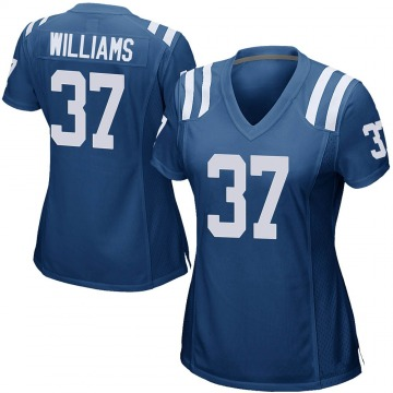Women's Nike Indianapolis Colts Frankie Williams Royal Blue Team Color Jersey - Game