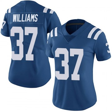 Women's Nike Indianapolis Colts Frankie Williams Royal Team Color Vapor Untouchable Jersey - Limited
