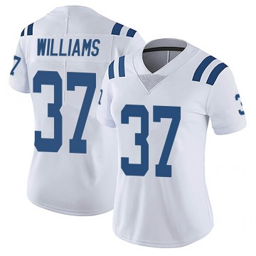 Women's Nike Indianapolis Colts Frankie Williams White Vapor Untouchable Jersey - Limited