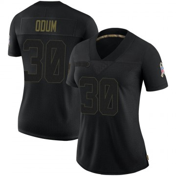 Women's Nike Indianapolis Colts George Odum Black 2020 Salute To Service Jersey - Limited