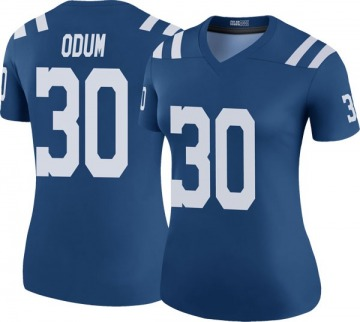 Women's Nike Indianapolis Colts George Odum Royal Color Rush Jersey - Legend