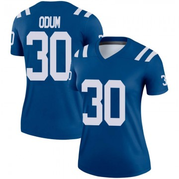 Women's Nike Indianapolis Colts George Odum Royal Jersey - Legend