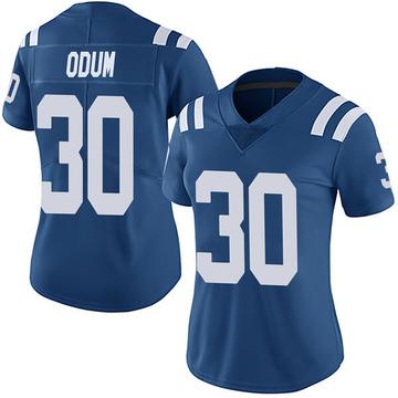 Women's Nike Indianapolis Colts George Odum Royal Team Color Vapor Untouchable Jersey - Limited