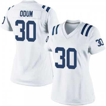 Women's Nike Indianapolis Colts George Odum White Jersey - Game