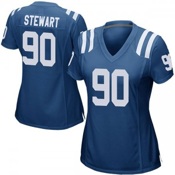 Women's Nike Indianapolis Colts Grover Stewart Royal Blue Team Color Jersey - Game