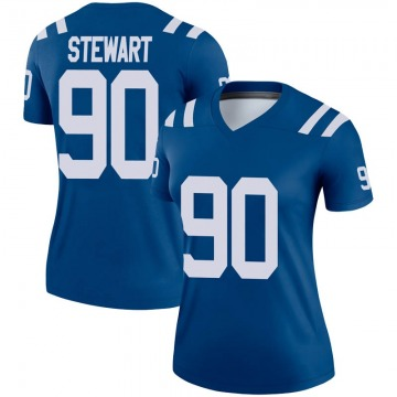 Women's Nike Indianapolis Colts Grover Stewart Royal Jersey - Legend