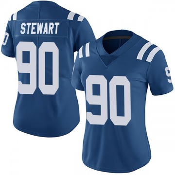 Women's Nike Indianapolis Colts Grover Stewart Royal Team Color Vapor Untouchable Jersey - Limited