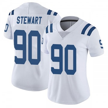 Women's Nike Indianapolis Colts Grover Stewart White Vapor Untouchable Jersey - Limited