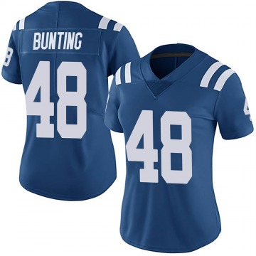 Women's Nike Indianapolis Colts Ian Bunting Royal Team Color Vapor Untouchable Jersey - Limited