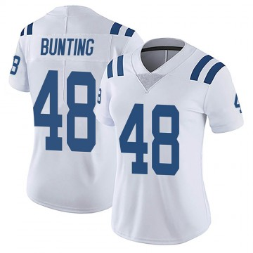 Women's Nike Indianapolis Colts Ian Bunting White Vapor Untouchable Jersey - Limited