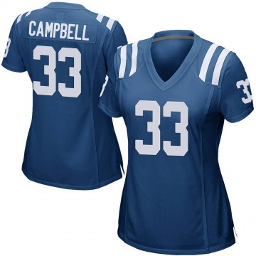 Women's Nike Indianapolis Colts Ibraheim Campbell Royal Blue Team Color Jersey - Game