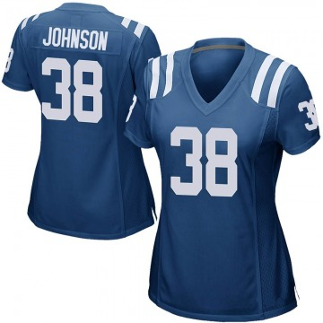 Women's Nike Indianapolis Colts Isaiah Johnson Royal Blue Team Color Jersey - Game