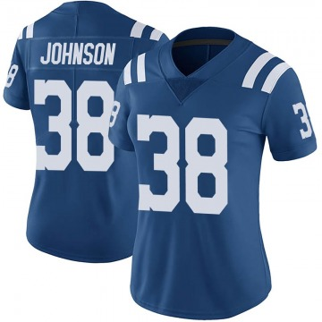 Women's Nike Indianapolis Colts Isaiah Johnson Royal Color Rush Vapor Untouchable Jersey - Limited