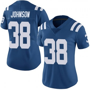 Women's Nike Indianapolis Colts Isaiah Johnson Royal Team Color Vapor Untouchable Jersey - Limited