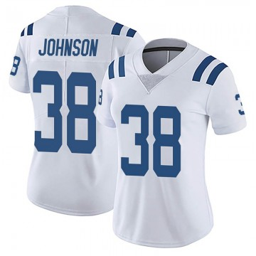 Women's Nike Indianapolis Colts Isaiah Johnson White Vapor Untouchable Jersey - Limited
