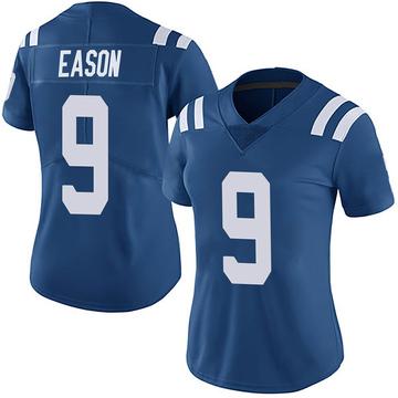 Women's Nike Indianapolis Colts Jacob Eason Royal Team Color Vapor Untouchable Jersey - Limited