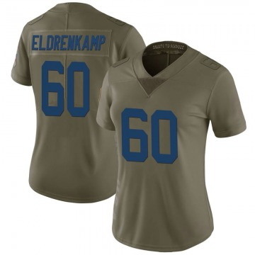 Women's Nike Indianapolis Colts Jake Eldrenkamp Green 2017 Salute to Service Jersey - Limited