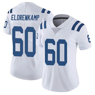 Women's Nike Indianapolis Colts Jake Eldrenkamp White Vapor Untouchable Jersey - Limited