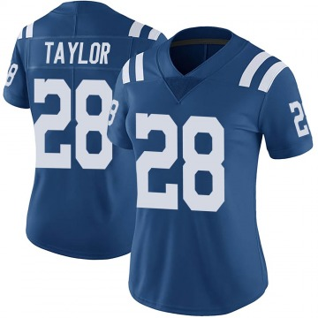 Women's Nike Indianapolis Colts Jonathan Taylor Royal Color Rush Vapor Untouchable Jersey - Limited